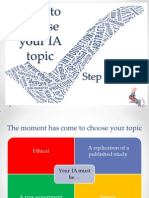 How to Choose Your IA Topic