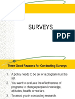How to Write a Good Survey