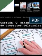 curso diseño proyectos culturales