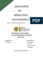 Six Sigma Application