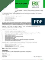 Common Safety Training Program Flyer