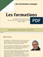 Catalogue 2012-2013, Les Ateliers du Community manager