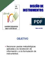 Diseño de instrumentos para la recolección de información
