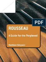 Rousseau a Guide for the Perplexed Guides for the Perplexed