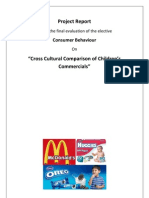 Cross cultural comparison of children's commercials