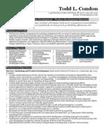 Sample Product Marketing Resume
