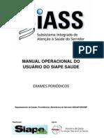 SIAPE SAUDE _ Manual de Exames Periódicos
