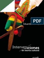 Intervenciones en Teoria Cultural-eduardo Restrepo