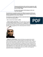 Teacher Profiles Imams