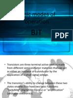 Basic Modes of Operation