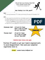 Summer Hockey - Juniors 2012 - KWSHC