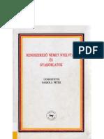 Rendszerző német nyelvtan és gyakorlatok