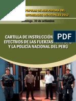 CPR 2012 Cartilla de instrucción para las FF.AA. y Policía Nacional del Perú