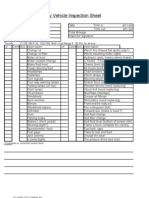 Monthly vehicle inspection sheet