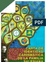 CARTA DE LA IDENTIDAD CARISMÁTICA DE LA FAMILIA SALESIANA DE DON BOSCO