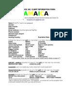 Eloquence Inc - Jamaica - Client Information
