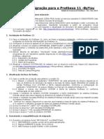 Passos Para Migrao Para o Protheus 11-NOV2011