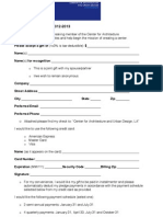 CALA Membership Pledge Form Template 2012-2013