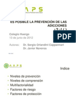 Charla prevención adicciones - Docentes