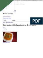 Recetas de Albóndigas de carne de res casera, Recetas de Carnes _ Radaf Recetas