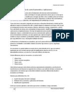Fundamentos de teoría de control automático y Aplicaciones