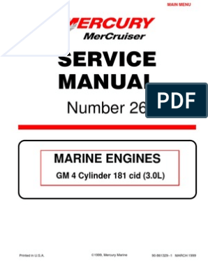 Mercruiser 4 Cyl 3.0 Service Manual | Motor Oil | GasolineScribd