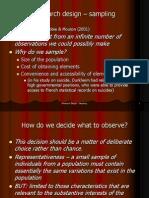 Research Design - Sampling