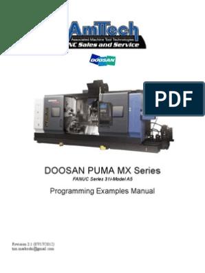 Doosan Puma Mx Series | Numerical Control | Tools