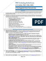 2012-08-22 PMP Exam Prep Suggested Study Information Links and Tools