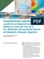 Caracterización petrofísica Fm. Mulichinco