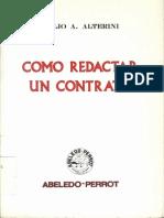 Alterini Atilio Anibal - Como Redactar Un Contrato