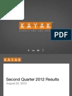 KAYAK Q2 2012 Earnings Presentation