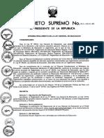 D.S. Nº 011- 2012 -ED Aprueban Reglamento de la Ley de Educación Nº 28044