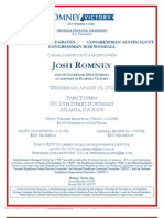Reception with Josh Romney for Romney Victory Inc.