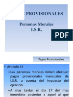 Pagos Provisionales ISR