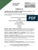 Acuerdo No. 012 Nuevo Est Puerto Col
