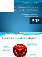 Putting Decision Science Into the Art of Intelligence Analysis (Dhami)