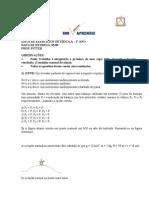 Lista de exercícios Física A - 1o ANo