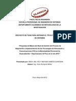 Propuesta de Mejora del Nivel de Gestión del Proceso de Adquisición e Implementación de las Tecnologías de Información y Comunicaciones (TIC) en la Municipalidad Provincial de Huancabamba – Departamento de Piura en el año 2012