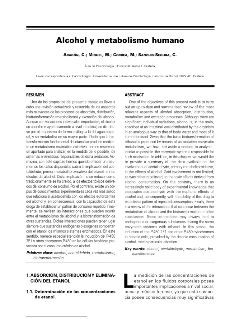 Prácticas para metabolismo esquema