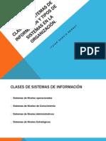 Clases de Sistemas de Información y Tipos de info