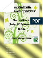 Xiii English Singing Contest