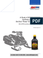 Study of AMSOIL Interceptor 2 cycle oil in Ski-DooRotax engines