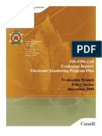 Corrections Canada evaluation of electronic monitoring pilot project - 2010