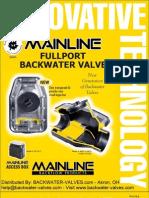 Fullport Backwater Valve Brochure