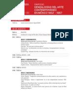 Programa del Simposio Genealogías del arte contemporáneo en México 1952-1967