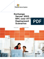 Exchange Server 2003 RPC Over HTTP Deployment Scenarios