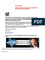 Texas Democratic Party Chair Has a Message for You Read It Here 8-22-12