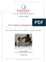 Cross-Cultural Management in India - Master Thesis