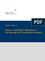 TWB Position Paper Gaming and Entertainment Industry